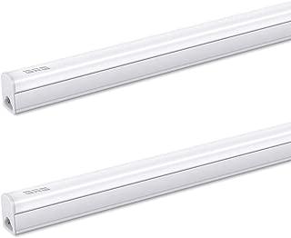 GRG Linkable LED Under Cabinet Light,4Ft 20W 2200lm 6500K, Ceiling Utility Shop Light, Garage Lights, T5 Integrated Single Fixture, T5 T8 Fluorescent Tube Light Fixture Replacement (Pack of 2)
