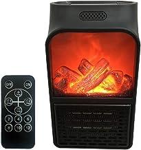 DJ-NFJ 900W Mini Calentador de Llama eléctrico de Pared Calentador de Aire enchufable PTC Calefacción de cerámica Horno Radiador Hogar Ventilador Conveniente