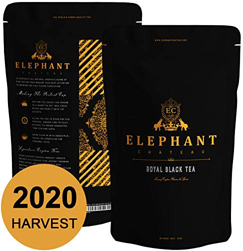 Royal Black Tea | 50 Cups | Delicious Iced & Hot Tea | Extra Special Ceylon Loose Leaf | English Breakfast & Afternoon Teatime | Naturally Aromatic Leaves in Bulk Bag | Plain Unsweet Teas