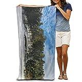 ETGBFH Strandtücher aus 100% Polyester, Strandtuch für Stranddecke, Zelt, Bodenschutz, Yogamatte, natürlich, weich, schnelltrocknend, 80 x 135 cm