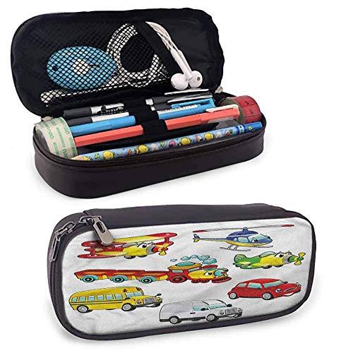 XCNGG Estuche para lápices para habitación de niños, juguetes estilo vehículos, bolsa con cremallera para bolígrafos, lápices, resaltadores, bolígrafos de gel, marcadores, borradores y otros útiles es