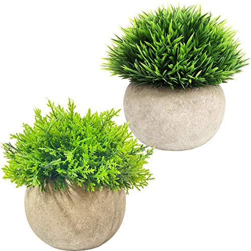 Mini piante artificiali Piante finte Piante decorative per fattoria in vaso per ufficio Cucina Bagno Camera da letto Hotel scaffale (Type A)