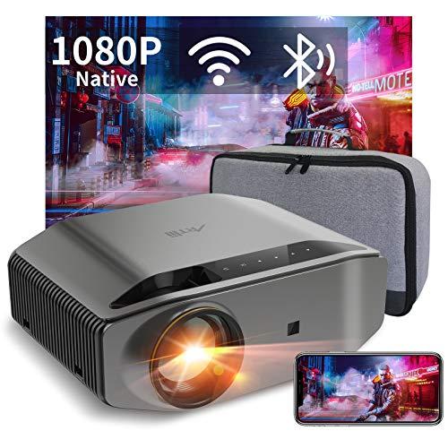 """Produktbild von Beamer Full HD WLAN Bluetooth - Artlii Energon2 8000 Lumen Native 1080P Projektor Beamer WiFi Unterstützt 4K, 300"""" Display und 60% Zoom für TV Stick iOS/Android Phone Switch"""