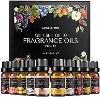 Lagunamoon Aceites de Fragancia, Aceites de Aromaterapia para Difusores, Coco y vainilla, Fresa, Mango, Manzana Fresca,...