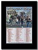 gasolinerainbows Status Quo - Heavy Traffic UK Tour Dates 2002. Promo de la revista del Reino Unido en un monte negro