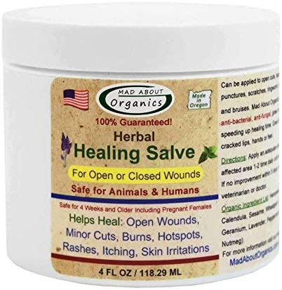 Mad About Organics All Natural Herbal Skin Wound Healing Salve for All Pets | Amazon