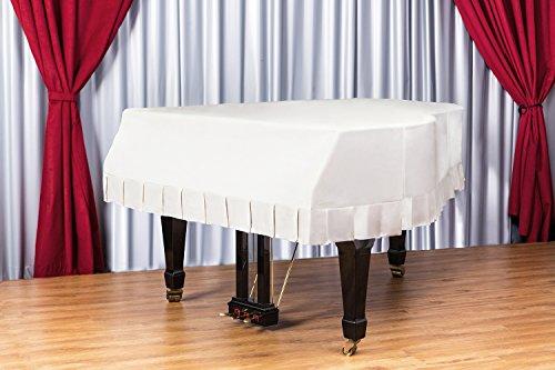 Clairevoire Grandeur: Funda clásica de terciopelo de primera para Pianos de Cola para Yamaha C1 / GC1 / C1X / DC1 / G1 / CN161PE [161cm | 5 Pies 3 pulgadas] [Vino clásico]