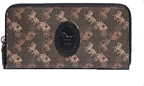 COACH Womens Accordion Zip Wallet In Columbus Mall Canvas Print Leather Max 80% OFF With