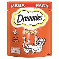 [Dreamies] Dreamies猫は鶏メガパック180グラムを扱います - Dreamies Cat Treats Chicken Mega Pack 180g [並行輸入品]