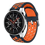 Syxinn Compatibile con 22mm Cinturino Galaxy Watch 46mm/Galaxy Watch 3 45mm Braccialetto Gear S3 Frontier/Classic Silicone Polso Band per Huawei Watch GT/GT 2 46mm/Moto 360 2nd Gen 46mm/Ticwatch PRO
