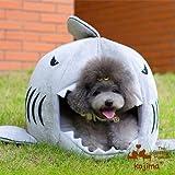 Nido cesta cojín cama caseta Transporter casa en forma tiburón para arena de perro gato animales domésticos