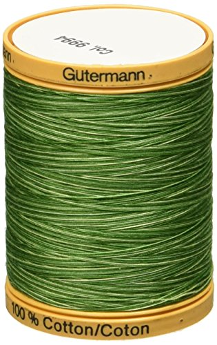 Gutermann Natural Cotton Thread Variegated 876yd-Foliage Green