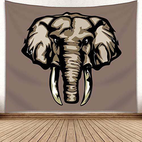 WERT Tapiz de Elefante Mandala Tapiz Indio Colgante de Pared decoración de impresión Alfombra de Playa decoración del hogar Tapiz A2 73x95cm