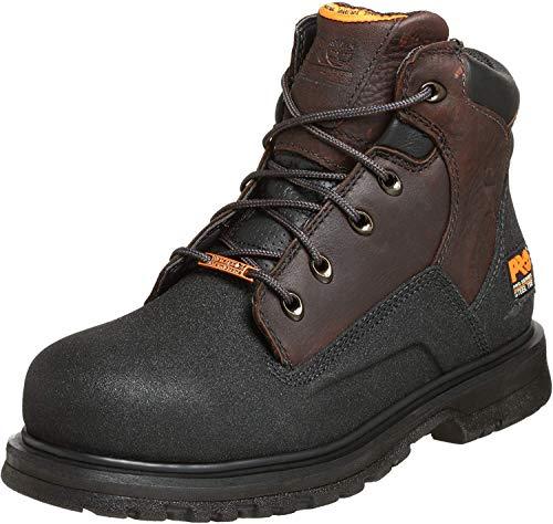 """Timberland PRO Men's 47001 Power Welt Waterproof 6"""" Steel-Toe Boot,Brown/Brown,12 W"""