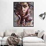 Geiqianjiumai Abstrakte leinwand malerei porträt Poster und drucke schöne Frau ölgemälde...