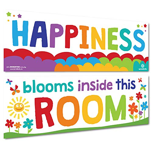 Sproutbrite Classroom Welcome Decorations - Inspirational Posters and Banners for Teachers - Bulletin Board and Wall Decor for Pre School, Elementary and Middle School