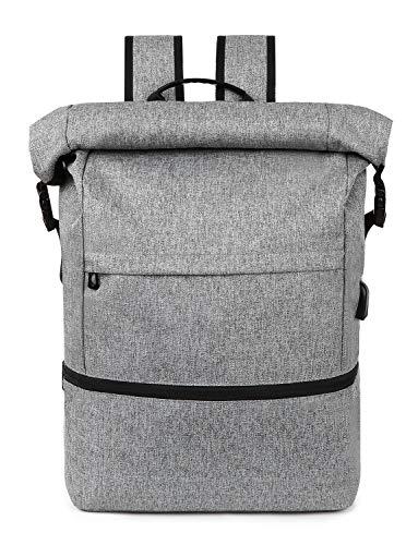 Lixada Laptop Rucksack für Männer Schulrucksack,Multifunktionsrucksack Diebstahlsicherung Tagesrucksack für Business Wandern Reisen Camping, Notebook Rucksack mit USB-Ladeanschluss 12.6/5.7/18.1 zoll