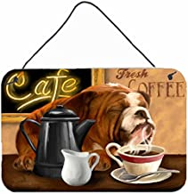 Caroline's Treasures PTW2061DS812 English Bulldog Morning Coffee Wall or Door Hanging Prints, 8 x 12, Multicolor