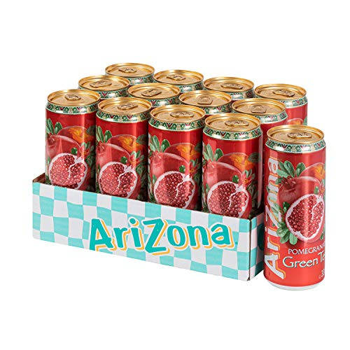 ARIZONA 0613008743604 Pomegranate Tea, 4x6pk, 0,33 l, Sleek Can