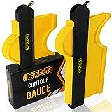 Contour Gauge with Lock - USAEGE 10 inch & 5 inch Contour Gauge Duplicator Set for Woodworking - Contour Gauge Profile Tool - Contour Gauge Tool for Finish Carpentry & Flooring- Contour Gauge