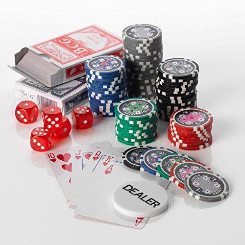 Squirrel Poker Malette de Poker 500 13,5 g CASINO ACE Édition 2015 Motif jetons de Poker chip valeurs 5 Poker Malette en Aluminium Noir