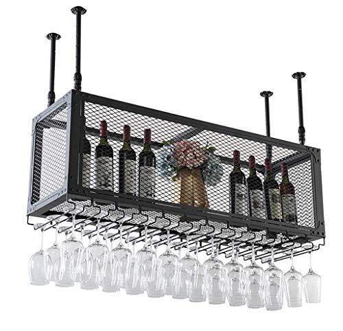 AWJ Estantes para Vino, Marco de Pared para ático, Rejilla de Hierro y Metal, Estante para Almacenamiento en el Techo, Estante para Vino, Estante para Colgar Botellas de