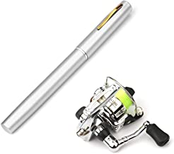 Lixada Pen Fishing Rod Reel Combo Set Premium Mini Pocket Collapsible Fishing Pole Kit Telescopic Fishing Rod + Spinning Reel Combo Kit 1M / 1.4M