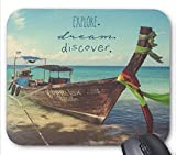 N\A Explore Dream Discover About Adventure Travel Pattern Alfombrilla De Raton
