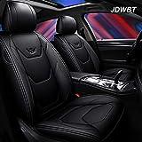 JDWBT Autositzbezüge Leder, Kunstleder Sitzbezug Auto Vordersitze Hinten 5 Sitz Voll Set Universal Pad Seat Protectors (Farbe : Schwarz)