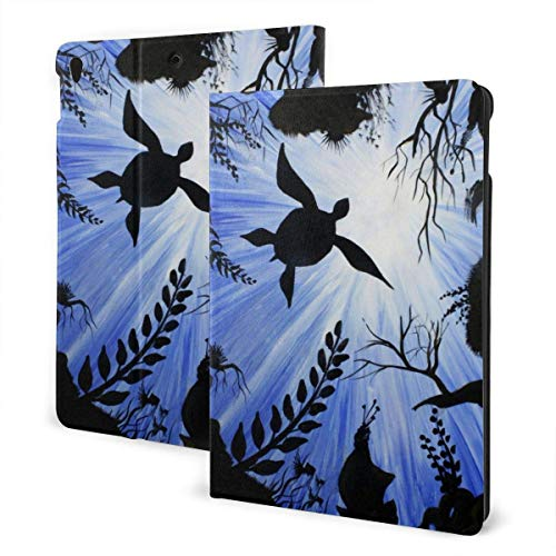 GOSMAO iPad Case Fit iPad 7th Generation 2019, iPad 10.2 Case Sea Turtle Art Painting PU Leather Business Cover with Stand Pocket and Auto Wake/Sleep for iPad 10.2'
