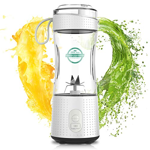 LaHuko Smoothie Maker,Tragbarer Mixer, Juice Blender,Standmixer, Entsafter 380ml, Hochleistung Mixer,USB Wiederaufladbar,Ideal für Smoothie, Saft, Milkshake, Reise, Haus, Sport,Fitness,Neue Version