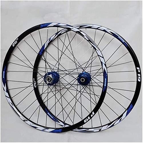 Mountain Bike Wheelset, 29/26 / 27.5 Pulgadas (Delantera + Trasera) Aleación De Aluminio De Doble Pared MTB Rim Freno De Disco De Liberación Rápida 32H 7-11 Cassette De Velocidad(Size:29in,Color:B)