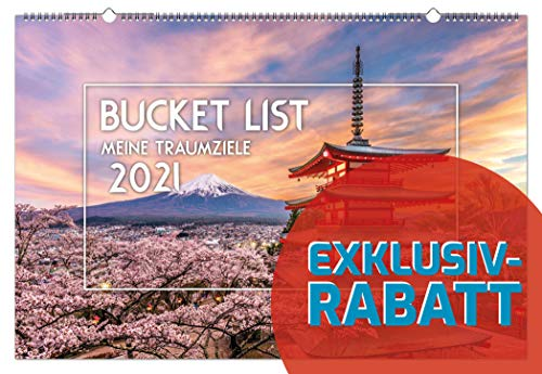 Panoramakalender Bucket List 2021 Landschaftskalender Natur Reisen Urlaub
