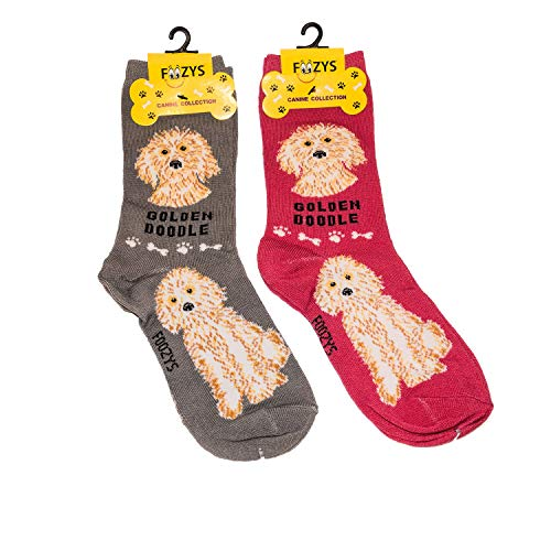 Foozys Unisex Crew Socks | Canine/Dog Collection | Goldendoodle
