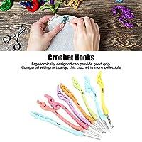 編み針、関節炎の手のためのかぎ針編みのフックを識別するのが簡単な8個(色)