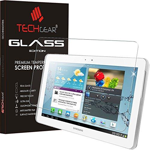 TECHGEAR Vetro Temperato Compatibile con Il Samsung Galaxy Tab 2 10.1' (GT-P5100) - Autentica Pellicola protecttiva in Vetro Temperato Salvaschermo