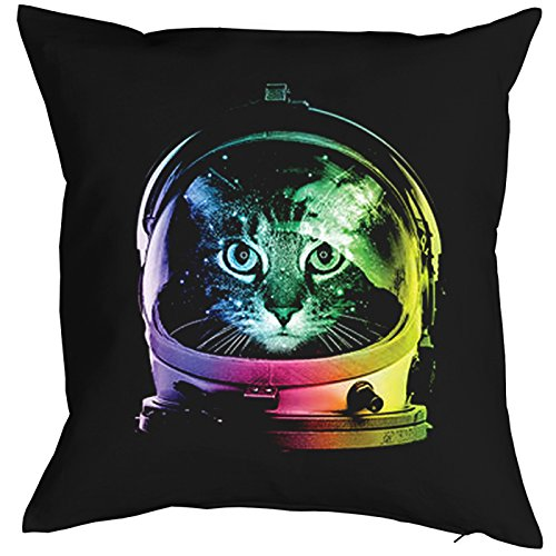 Space Cat Chats Gatti Gatos Coussin, Pop Art Style