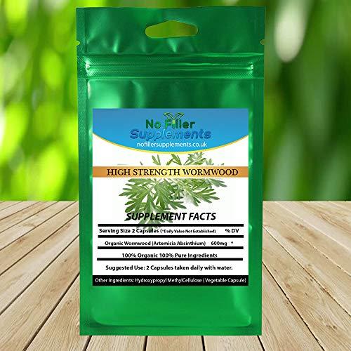 NoFillerSupplements Organic Wormwood 60 Capsules (Artemisia Absinthium)