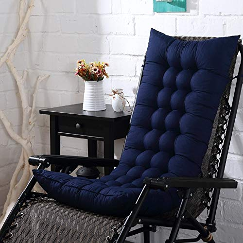 tonywu Rocking Chair Mat, Microfiber Chair Pad Seat Cushion, Reduces Pressure, Supple Sofa Cushions Seat Pad Hotel Office Lounger Pads 40X110cm navy