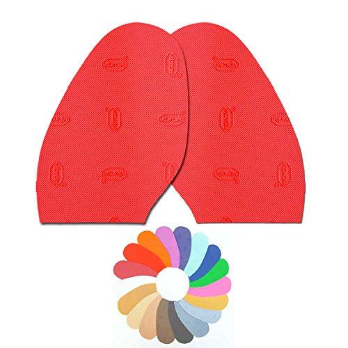 Desconocido Vibram - Media Suela Colores Zapato Mujer Rojo Reparación (Rojo 17)