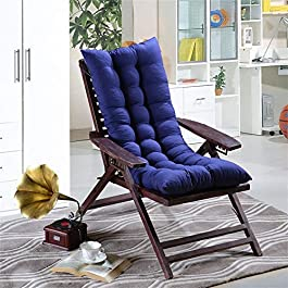 DFBGL Patio Rocking Chair Pad with Ties, Relaxer Coussin de Chaise Coussin de Chaise en rotin Coussin inclinable Coussin…