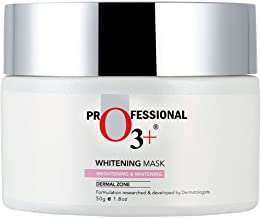 O3+ Whitening Mask for Skin Whitening, Tightening and Pigmentation Control - Infused with Natural Lavender and Cucumber Botanical Extracts (50g)