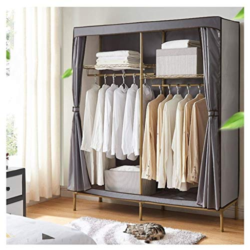 Haushaltsprodukte Tragbarer Kleiderschrank Aufbewahrungsschrank Kleiderschrank Aufbewahrbarer Kleiderschrank Tragbarer Kleiderschrank aus Vliesstoff Moderne minimalistische Mode Wasserdichte staubd