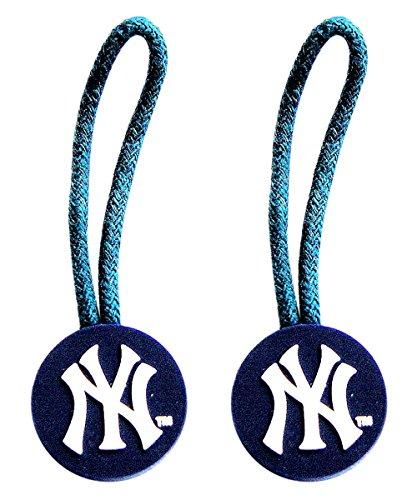 MLB New York Yankees Team Logo Zipper Pull Charm Luggage Pet ID Tag Set