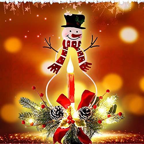 Creative Christmas Solar Powered Candle...