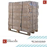 960 kg Holzbriketts RUF Hartholz Briketts Kamin Ofen Brikett Brennholz Heizbrikett aus Buche, Eiche, Birke 96 x 10kg / 960kg Palette RUF Brikett Eckig