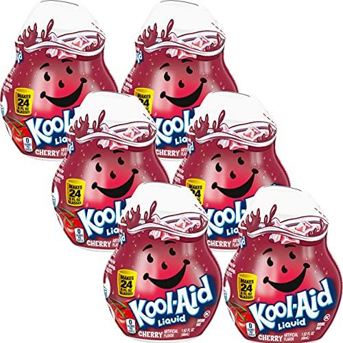 Kool-Aid Liquid Drink Mix , Caffeine Free (Cherry, 1.62 Ounce Pack of 6)