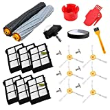 aoteng Accessory Kit for iRobot Roomba 800 900 Series Robot Vacuum Cleaner 805 860 870 871 880 890 960 980 Replacement Parts Pack of Extractor, Filter, Side Brush, Front Wheel, Screw, Bumper Strip