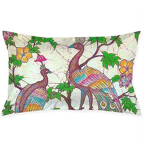 N/A Funda de Almohada con Cremallera para la decoración del sofá casero Disfraz de Pavo Real Funda de cojín 16
