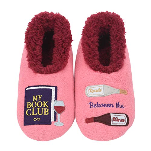 Snoozies Pairables Womens Slippers - House Slippers - My Book Club - X-Large